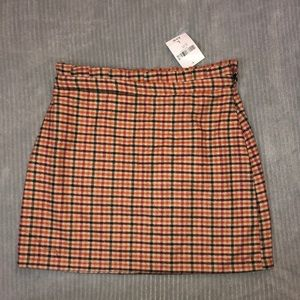 Forever 21 plaid paper bag skirt